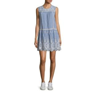 EUC Joie Josune Denim Embroidered Dress